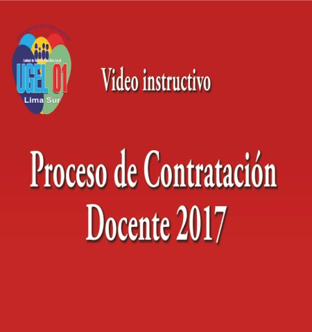 través de este video instructivo los docentes de la ugel 01 ...
